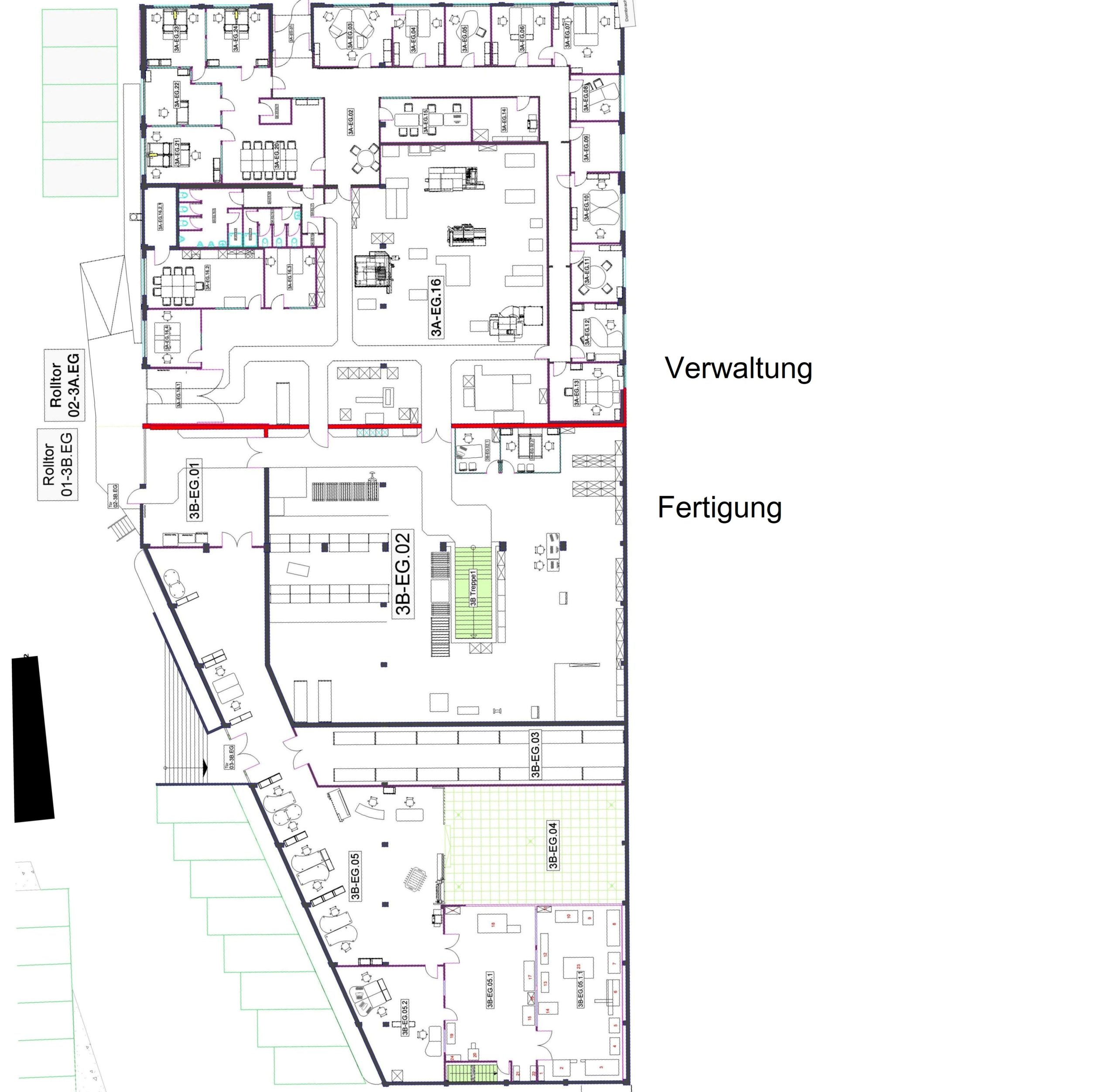 Grundriss Erdgeschoss editiert durch WZ-Immobilien. Immobilienmakler in Iserlohn und dem Märkischen kreis